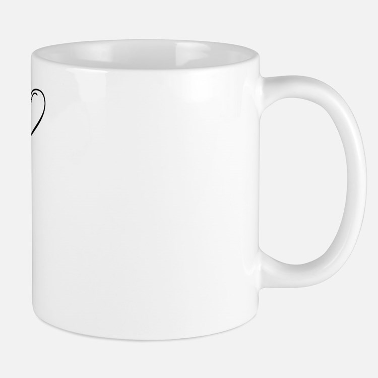 "Letter ""A"" (Cursive Initial) Mug"
