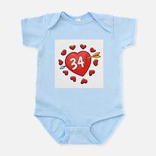 34th Valentine Infant Creeper