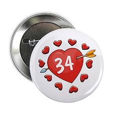 """34th Valentine 2.25"""" Button (10 pack)"""