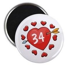 34th Valentine Magnet