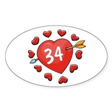 34th Valentine Oval Decal