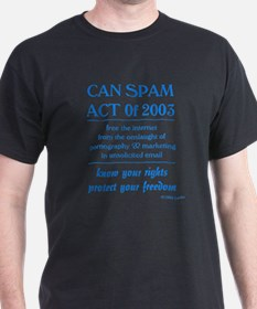 CAN SPAM ACT of 2003 Black T-Shirt Exhibit D
