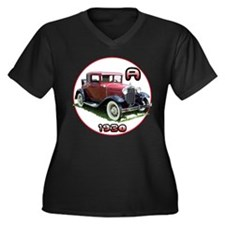 A Coupe Women's Plus Size V-Neck Dark T-Shirt
