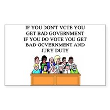 voter government jury duty Decal