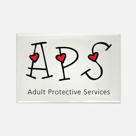 APS Hearts Rectangle Magnets (10 pack)