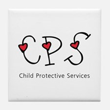 CPS Hearts Tile Coaster