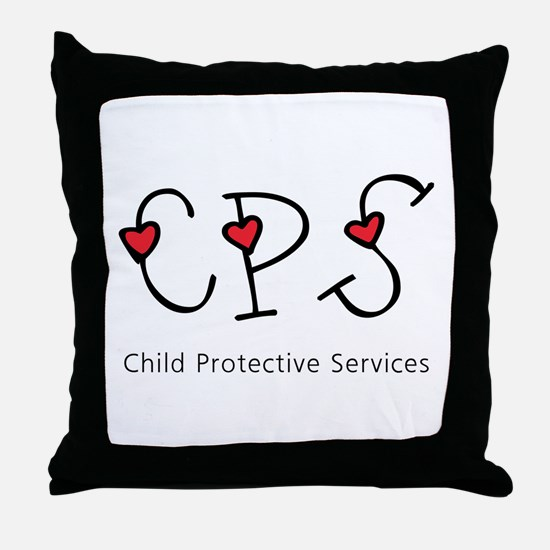 CPS Hearts Throw Pillow