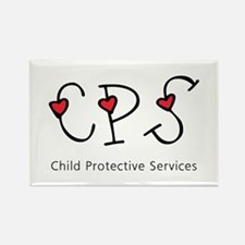 CPS Hearts Rectangle Magnet