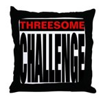 Threesome Throw Pillow