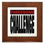 Threesome Framed Tile