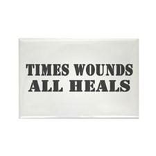 Times Wounds Rectangle Magnet