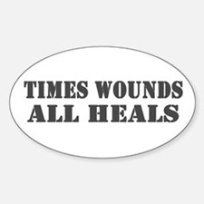 Times Wounds Oval Decal