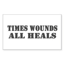 Times Wounds Rectangle Decal