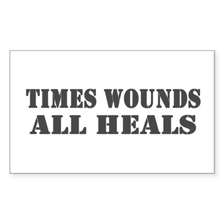 Times Wounds Rectangle Sticker