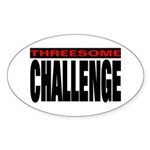 Threesome Oval Sticker