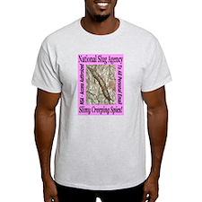 NSA Slugs Pretty In Pink Ash Grey T-Shirt