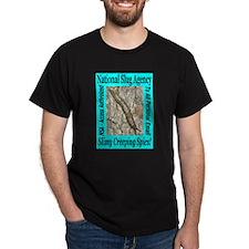 NSA Slugs Just For Him Black T-Shirt