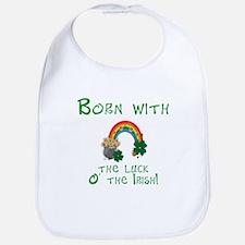 Born with the Luck O' the Irish Bib