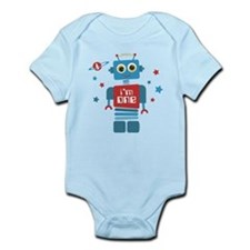 Robot 1st Birthday Infant Bodysuit