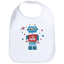 Robot 1st Birthday Bib