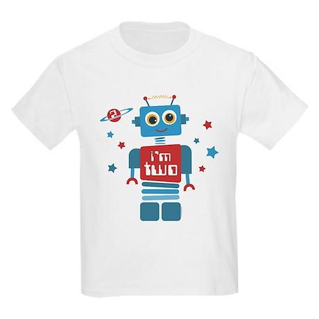 Robot 2nd Birthday Kids Light T-Shirt