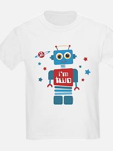 Robot 2nd Birthday T-Shirt