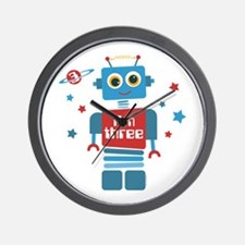 Robot 3rd Birthday Wall Clock