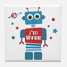 Robot 3rd Birthday Tile Coaster