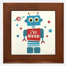 Robot 3rd Birthday Framed Tile