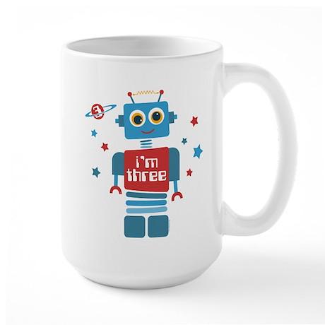 Robot 3rd Birthday Large Mug