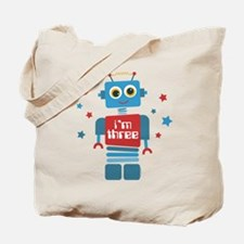 Robot 3rd Birthday Tote Bag