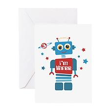 Robot 3rd Birthday Greeting Card