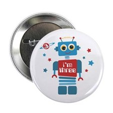 "Robot 3rd Birthday 2.25"" Button"