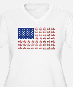Old Time Motorcycle Flag T-Shirt