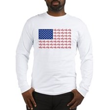 Old Time Motorcycle Flag Long Sleeve T-Shirt