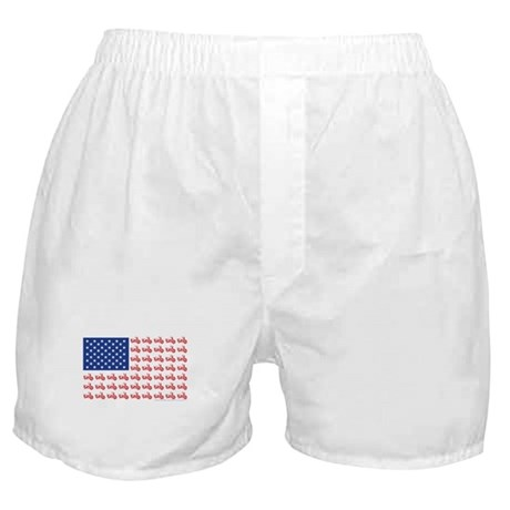 Old Time Motorcycle Flag Boxer Shorts