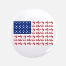 """Old Time Motorcycle Flag 3.5"""" Button"""