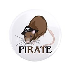 """Captain PiRATe 3.5"""" Button (100 pack)"""