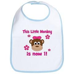 Little Monkey is 1! Bib