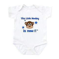 Little Monkey is 1! Infant Bodysuit