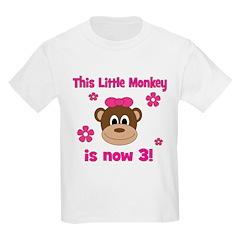 Little Monkey is 3! T-Shirt
