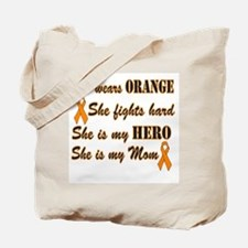 She is Mom and Hero, Orange Tote Bag
