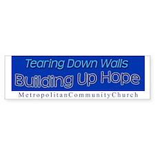 Tearing Down Walls Bumper Stickers