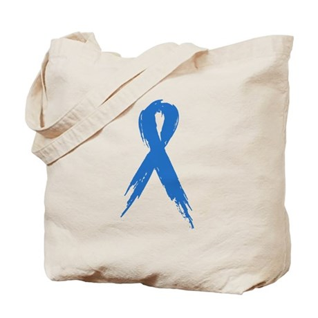 Run for a Cause - Blue Ribbon Tote Bag