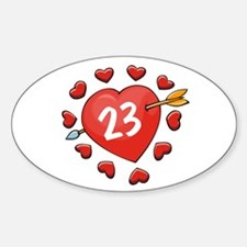 23rd Valentine Oval Decal
