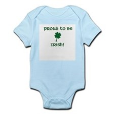 Proud to Be Irish Shamrock Infant Creeper