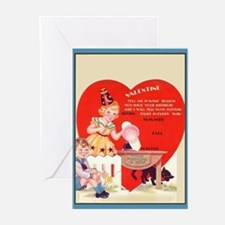 Vintage Valentine Nine Greeting Cards (Pkg. of 6