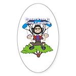 Tree Lander Oval Sticker