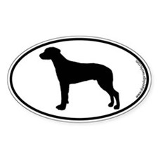 Ridgeback SILHOUETTE Oval Decal