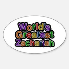 World's Greatest Zachariah Oval Decal